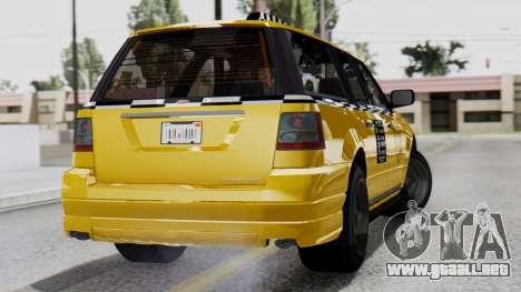 Vapid Landstalker Taxi SR 4 Style Flatshadow para GTA San Andreas left