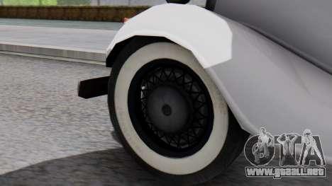 Smith V8 from Mafia 2 para GTA San Andreas vista posterior izquierda