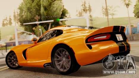 Dodge Viper SRT GTS 2013 IVF (HQ PJ) No Dirt para GTA San Andreas left
