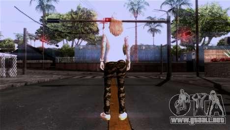 Piel de niña para GTA San Andreas tercera pantalla