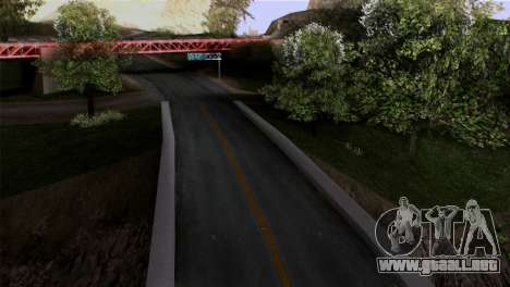 Roads Full Version LS-LV-SF para GTA San Andreas segunda pantalla