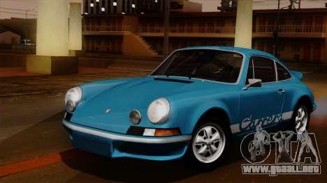 Porsche 911 Carrera RS 2.7 Sport (911) 1972 HQLM para visión interna GTA San Andreas