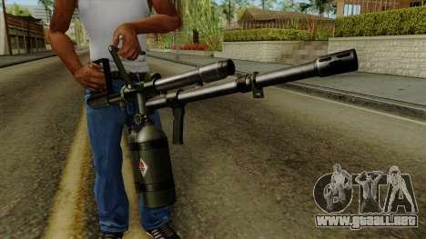 Original HD Flame Thrower para GTA San Andreas tercera pantalla