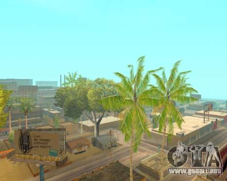 Árboles de palma de Crysis para GTA San Andreas tercera pantalla