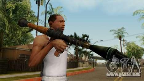 Original HD Rocket Launcher para GTA San Andreas tercera pantalla