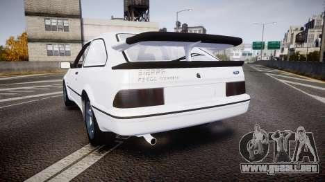 Ford Sierra RS500 Cosworth para GTA 4 Vista posterior izquierda