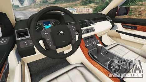 GTA 5 Range Rover Sport 2010 v0.7 [Beta] vista lateral trasera derecha