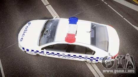Holden VF Commodore SS NSW Police [ELS] para GTA 4 visión correcta