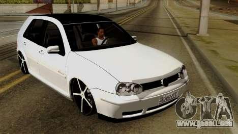 Volkswagen Golf 2004 Edit para visión interna GTA San Andreas