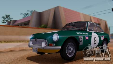 MGB GT (ADO23) 1965 FIV АПП para la vista superior GTA San Andreas