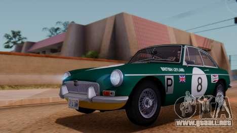MGB GT (ADO23) 1965 FIV АПП para la vista superior GTA San Andreas