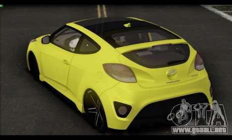 Hyundai Veloster 2012 para GTA San Andreas vista hacia atrás