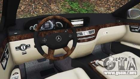 GTA 5 Mercedes-Benz S500 W221 v0.3 [Alpha] vista lateral derecha