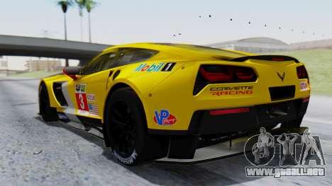 Chevrolet Corvette C7R GTE 2014 PJ1 para GTA San Andreas left