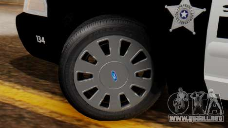 Police SF 2013 para GTA San Andreas vista posterior izquierda