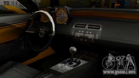 Chevrolet Camaro GT para la visión correcta GTA San Andreas