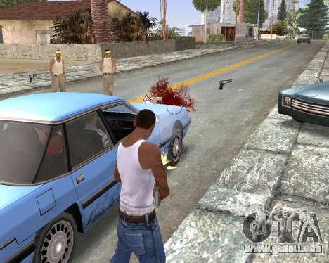 Blood Effects para GTA San Andreas sucesivamente de pantalla