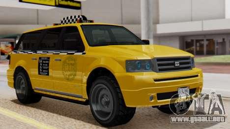 Landstalker Taxi SR 4 Style Flatshadow para GTA San Andreas