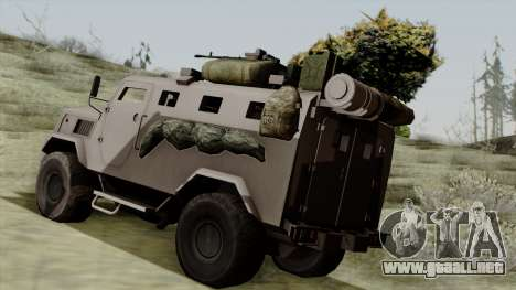 SPM-3 from Battlefiled 4 para GTA San Andreas left