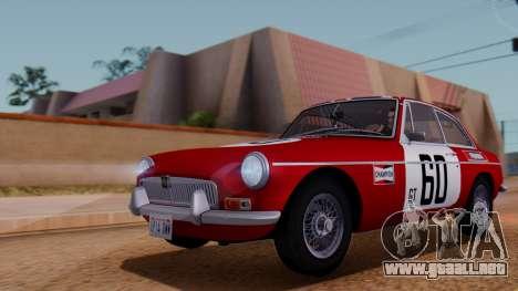 MGB GT (ADO23) 1965 FIV АПП para vista inferior GTA San Andreas