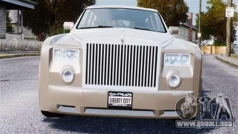 Rolls-Royce Phantom LWB para GTA 4 vista hacia atrás