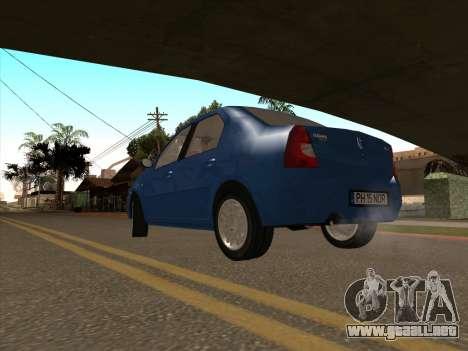 Dacia Logan Prestige para GTA San Andreas vista posterior izquierda
