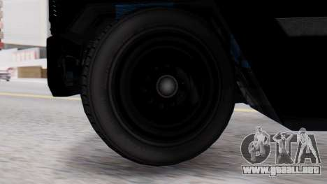 GTA 5 Enforcer Raccoon City Police Type 2 para GTA San Andreas vista posterior izquierda