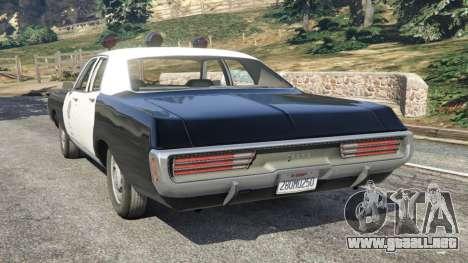 GTA 5 Dodge Polara 1971 Police v3.0 vista lateral izquierda trasera