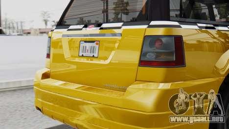 Vapid Landstalker Taxi SR 4 Style Flatshadow para la visión correcta GTA San Andreas