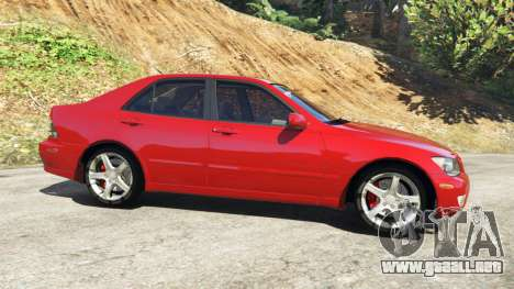 GTA 5 Lexus IS300 vista lateral izquierda