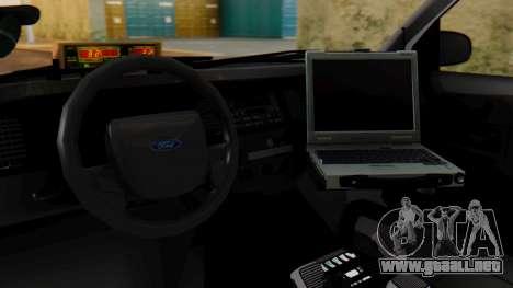 Police SF 2013 para visión interna GTA San Andreas