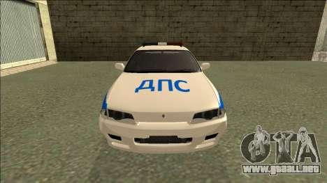 Nissan Skyline R32 Russian Police para la visión correcta GTA San Andreas
