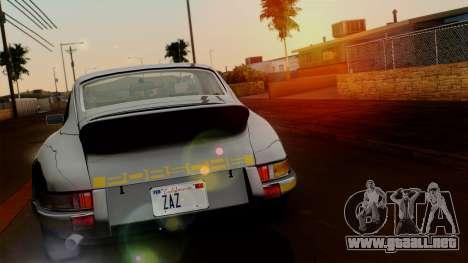 Porsche 911 Carrera RS 2.7 Sport (911) 1972 HQLM para GTA San Andreas vista posterior izquierda