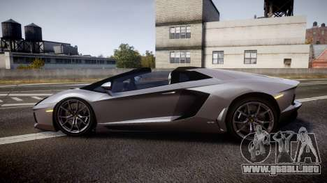 Lamborghini Aventador Roadster para GTA 4 left