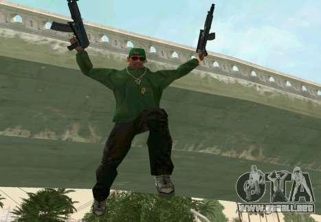 AKS-74U para GTA San Andreas sexta pantalla