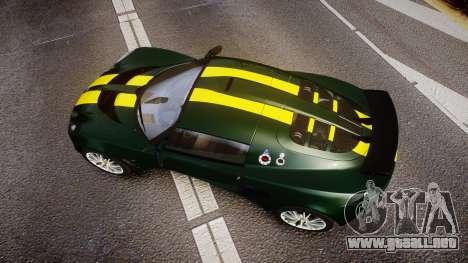 Lotus Exige 240 CUP 2006 Team Lotus para GTA 4 visión correcta