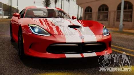 Dodge Viper SRT GTS 2013 IVF (MQ PJ) LQ Dirt para la visión correcta GTA San Andreas