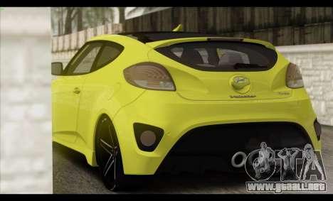 Hyundai Veloster 2012 para GTA San Andreas interior