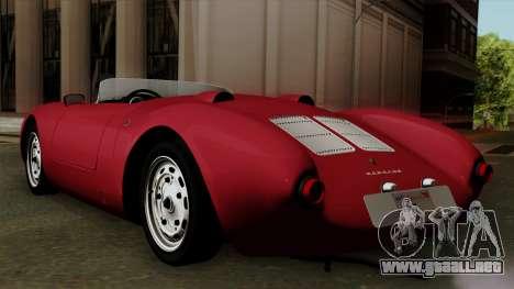 Porsche 550A Spyder 1956 para GTA San Andreas left
