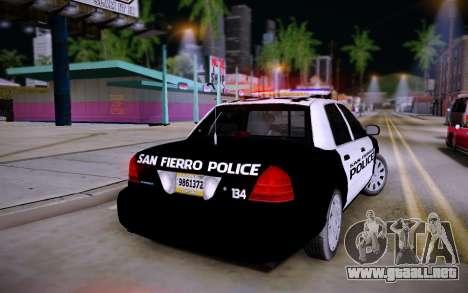 Ford Crown Victoria Police para GTA San Andreas left