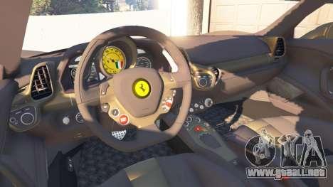 GTA 5 Ferrari 458 Italia v0.9.3 vista lateral trasera derecha