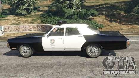 GTA 5 Dodge Polara 1971 Police v3.0 vista lateral izquierda