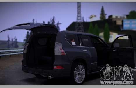 Lexus GX460 2014 para la vista superior GTA San Andreas