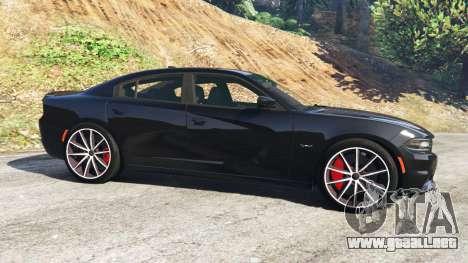 GTA 5 Dodge Charger RT 2015 v0.5 vista lateral izquierda