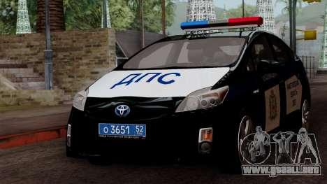 Toyota Prius ДПС para GTA San Andreas