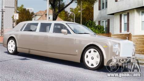 Rolls-Royce Phantom LWB para GTA 4 vista lateral