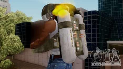 Original HD Jetpack para GTA San Andreas sucesivamente de pantalla