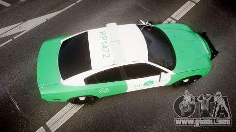 Dodge Charger Carabineros de Chile [ELS] para GTA 4 visión correcta