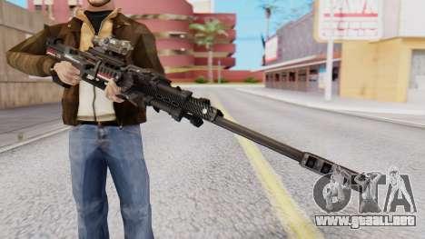 Sniper Rifle 8x Scope para GTA San Andreas segunda pantalla