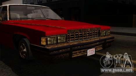 GTA 5 Albany Emperor Worn IVF para GTA San Andreas vista hacia atrás